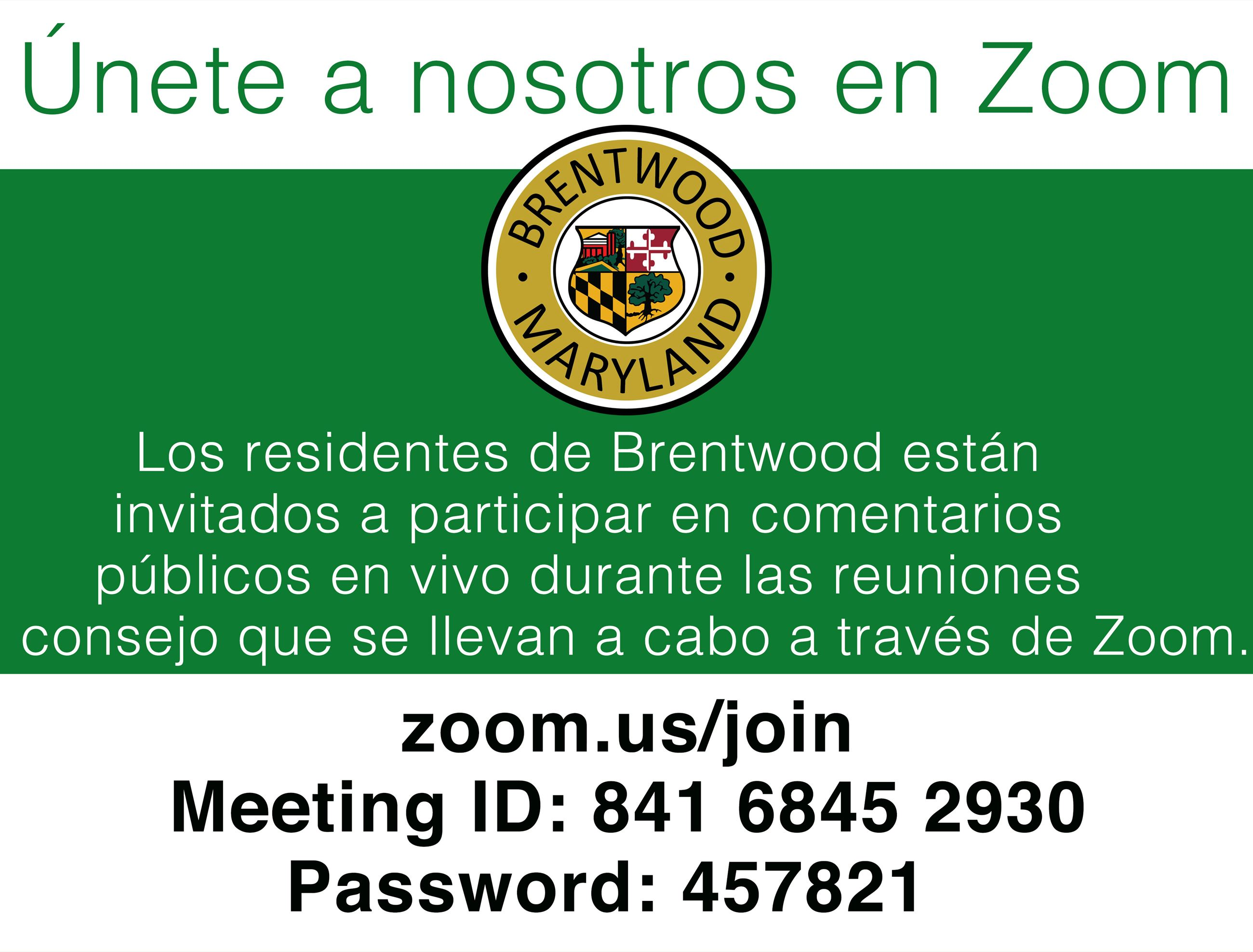 Join Us On Zoom- SPANISH
