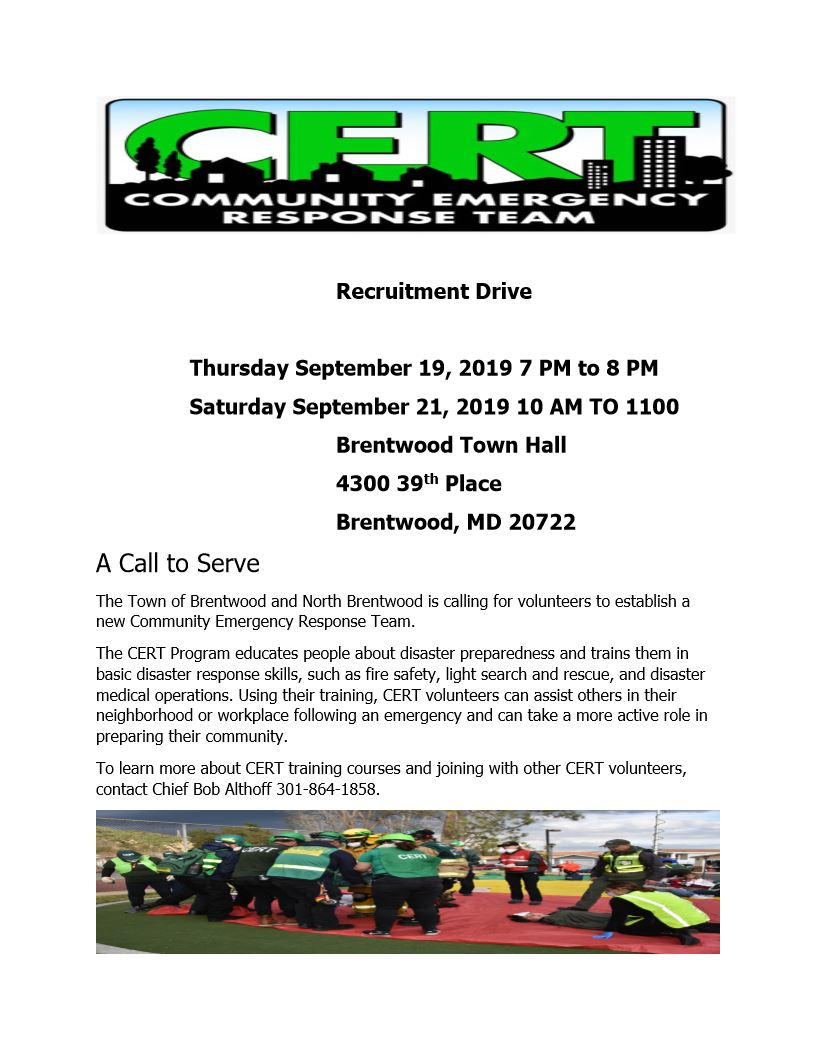 2019 CERT Recruitment Drive