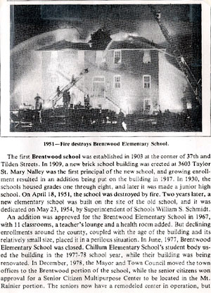 1951 Brentwood Fire